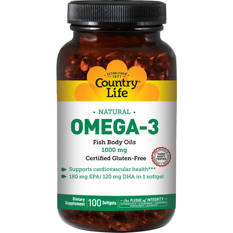 COUNTRY LIFE - Omega-3 1000 mg Fish Oil