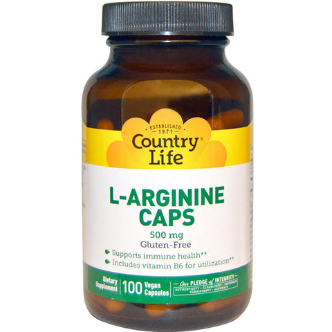 COUNTRY LIFE - L-Arginine Caps 500 mg