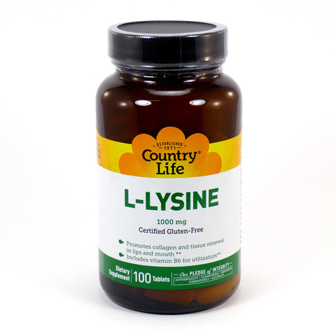 COUNTRY LIFE - L-Lysine 1000 mg with B-6