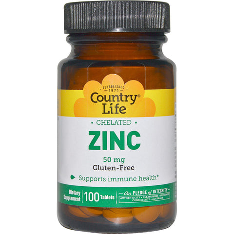 COUNTRY LIFE - Chelated Zinc 50 mg