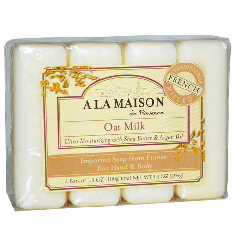A La Maison - Bar Soap Oat Milk Value Pack - 4 x 3.5 oz. Bars