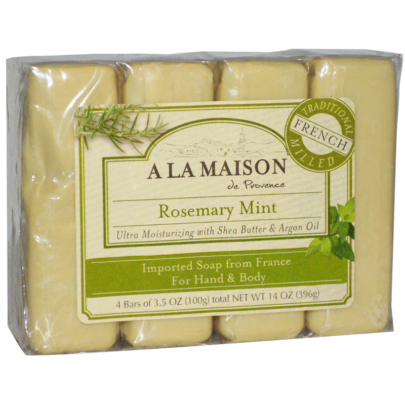 A La Maison - Bar Soap Rosemary Mint Value Pack - 4 x 3.5 oz. Bars