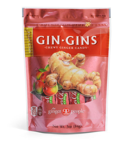 Ginger People - Gin Gins Spicy Apple Chewy Ginger Candy