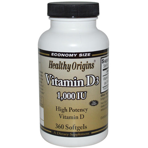 Healthy Origins - Vitamin D3 1000 IU