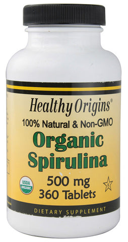 Healthy Origins - Organic Spirulina 500 mg