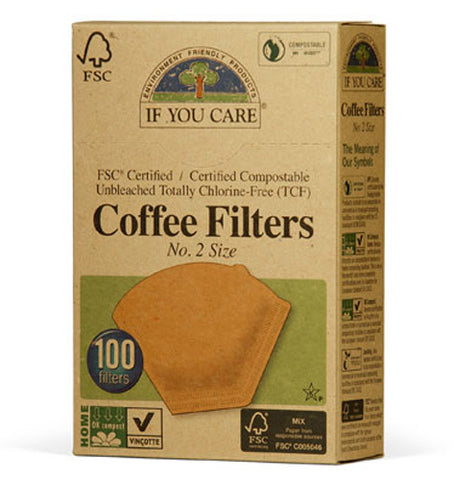 If You Care - Coffee Filters No 2 Size Cone Brown
