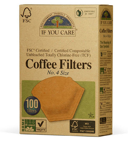 If You Care - Coffee Filters No 4 Size Cone Brown