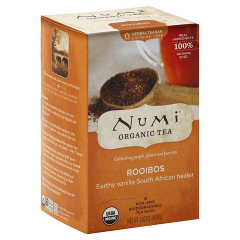 Numi Tea - Organic Rooibos Herbal Tea - 6 x 18 Tea Bags