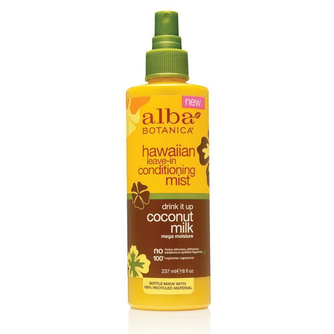Alba Botanica - Hawaiian Drink It Up Leave-In Conditioner Coconut Milk - 8 fl. oz. (237 ml)