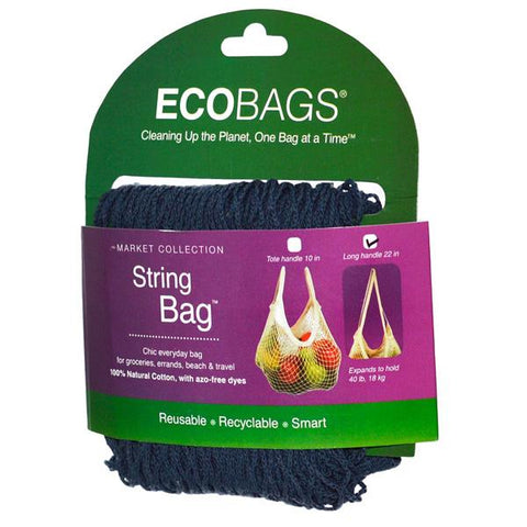 ECO-BAGS - String Bag Long Handle Storm Blue