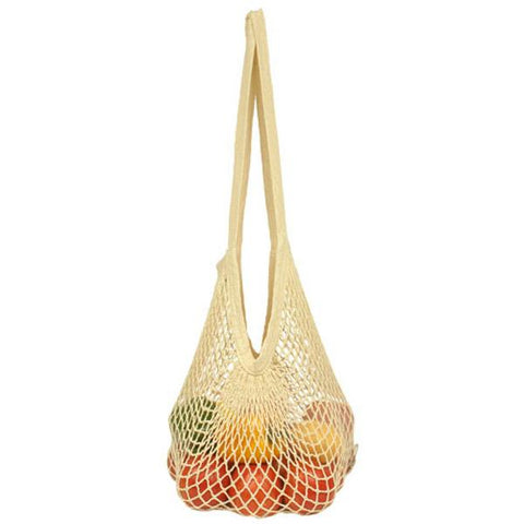 ECO-BAGS - Organic Cotton String Bag Long Handle Natural