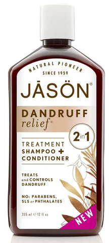 JASON NATURAL Dandruff Relief 2 in 1 Treatment Shampoo + Conditioner