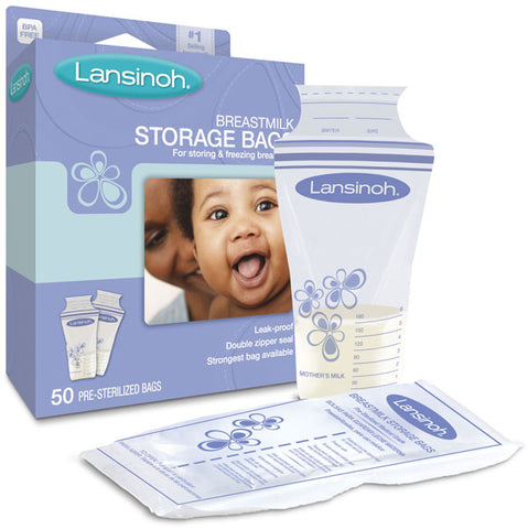 LANSINOH - Breast Milk Storage Bags - 50 Bags