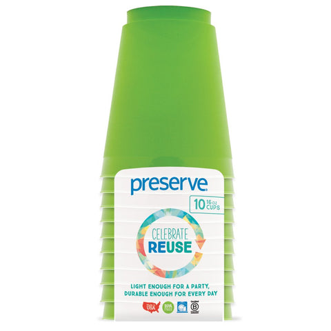 PRESERVE - On The Go Cups Green Apple