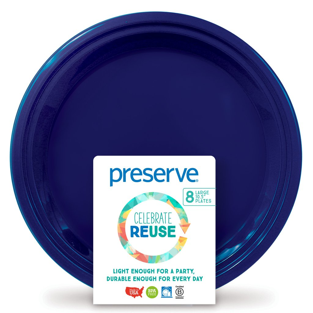PRESERVE - On The Go Plate Midnight Blue Large