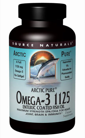 SOURCE NATURALS - ArcticPure Omega-3 1125 Enteric Coated Fish Oil - 120 Softgels