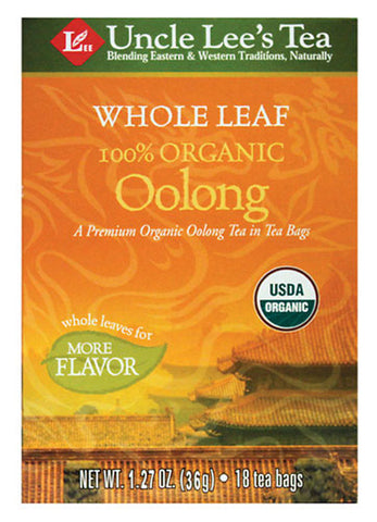 UNCLE LEE'S TEA - Whole Leaf Organic Oolong Tea