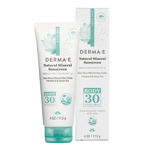 DERMA E - Natural Mineral Sunscreen Broad Spectrum SPF 30 Body Lotion