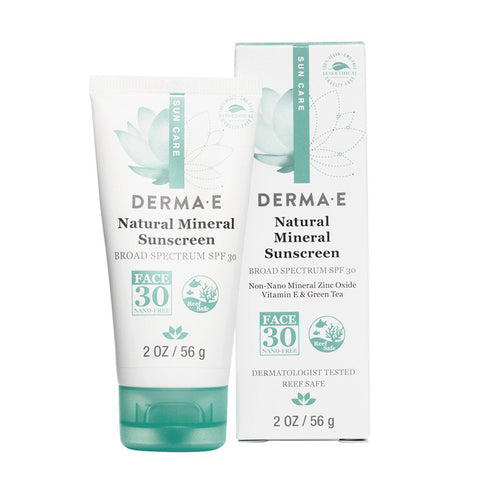 DERMA E - Natural Mineral Sunscreen Broad Spectrum SPF 30 Oil-Free Face Lotion