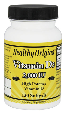 HEALTHY ORIGINS - Vitamin D3 2000 IU
