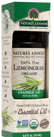 NATURES ANSWER - Essential Oil Organic Lemongrass