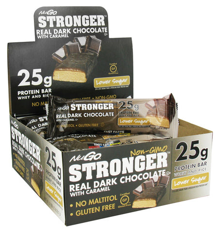 NUGO NUTRITION - NuGO Stronger Bar Real Dark Chocolate