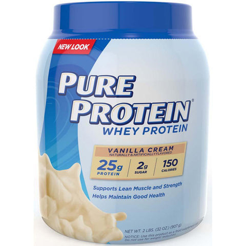 PURE PROTEIN - Natural Whey Protein Vanilla Cream