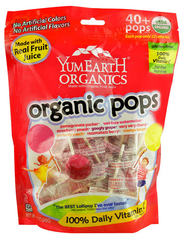 YUMMY EARTH - Organics Assorted Fruit Pops 40+
