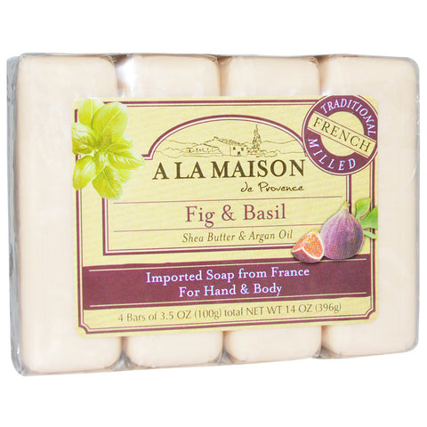 A LA MAISON - Fig and Basil Bar Soap Value Pack