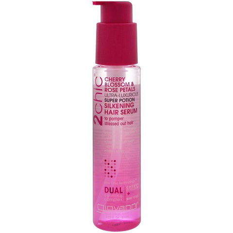 GIOVANNI - 2chic Ultra Luxurious Super Potion Silkening Hair Serum Cherry Blossom & Rose Petals
