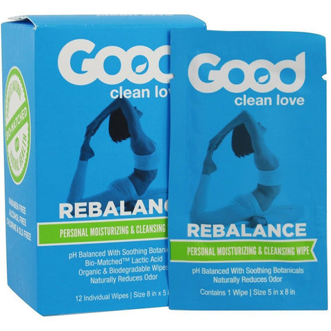 GOOD CLEAN LOVE - Rebalance Personal Moisturizing & Cleansing Wipes