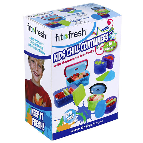 FIT & FRESH - Kids Chilled Lunch Container Value Set with Built-In Ice Packs