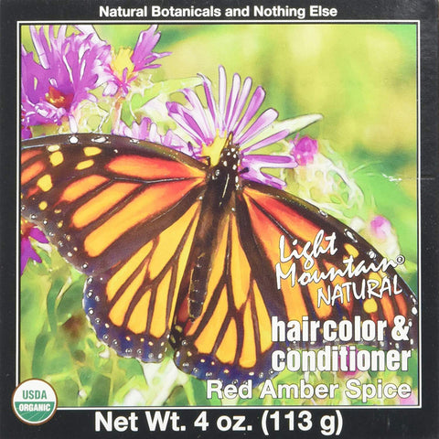 LIGHT MOUNTAIN - Hair Color and Conditioner Red Amber Spice