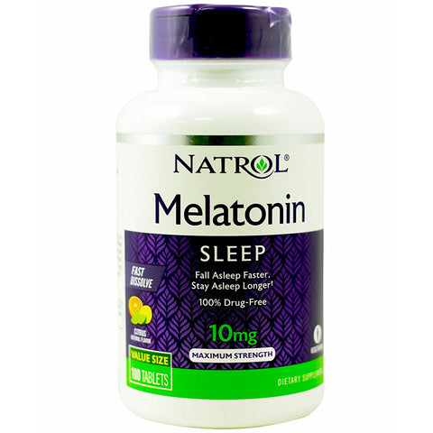 NATROL - Melatonin Fast Dissolve Citrus Punch Natural Flavor 10 mg