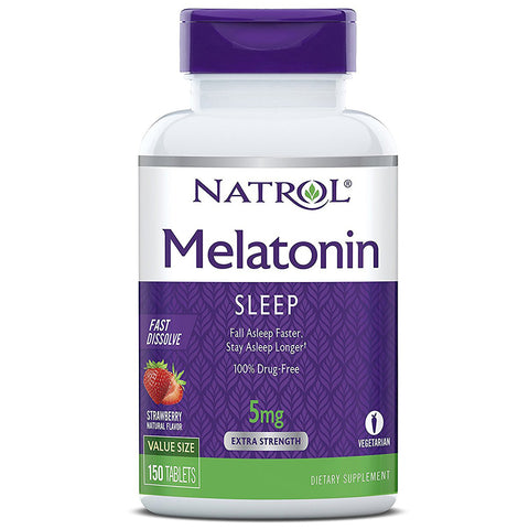 NATROL - Melatonin Fast Dissolve Strawberry 5 mg