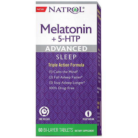 NATROL - Advanced Sleep Melatonin+ 5-HTP