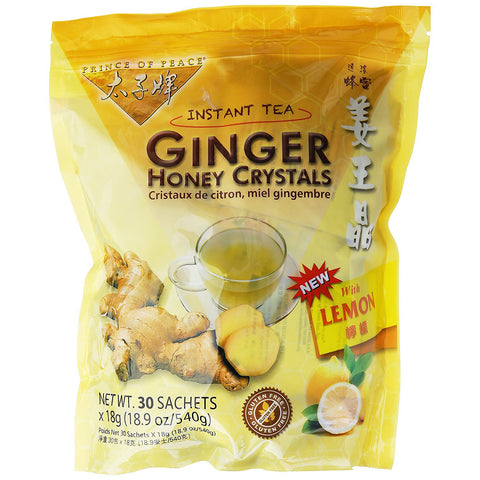 PRINCE OF PEACE - Ginger Honey Crystals with Lemon Instant Tea