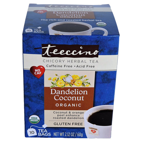 TEECCINO - Organic Dandelion Coconut Herbal Tea Bags