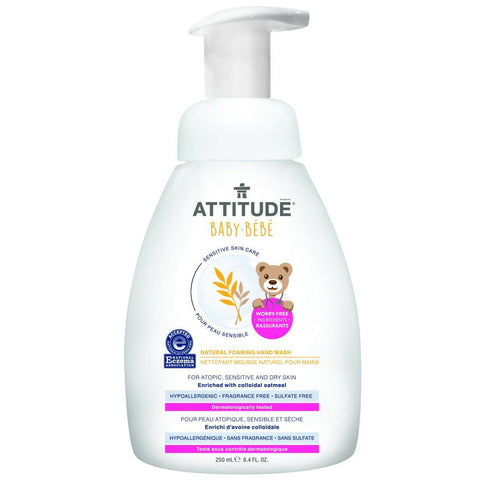 ATTITUDE - Baby Natural Foaming Hand Wash Fragrance Free