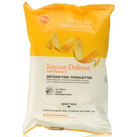 AVALON - Intense Defense Detoxifying Towelettes with Vitamin C