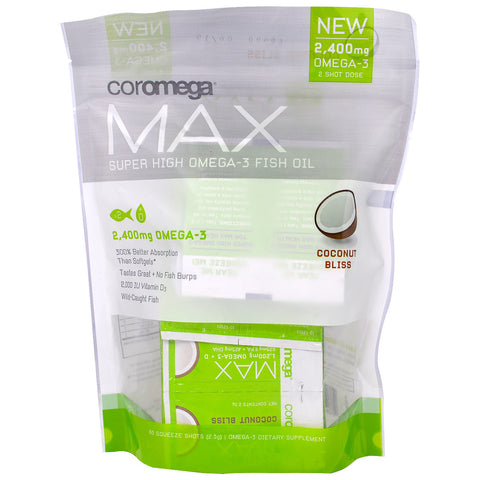 COROMEGA - Max Super High Concentrate Omega-3 Fish Oil Coconut Bliss