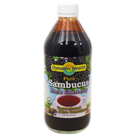 DYNAMIC HEALTH - Organic Sambucus Black Elderberry Juice Concentrate
