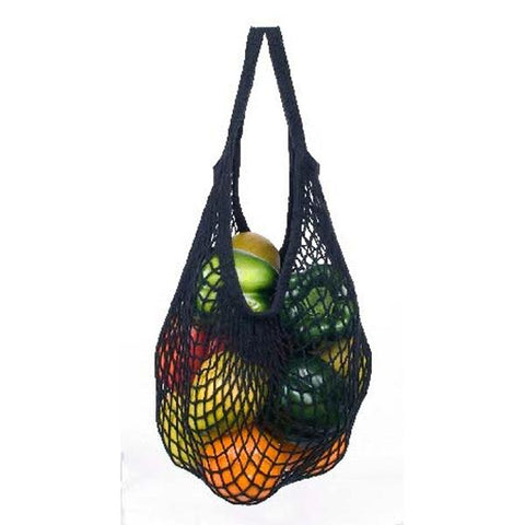 ECOBAGS - Natural Cotton Black Tote Handle