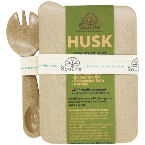 ECOSOULIFE - Husk On The Go Spork Set, Natural