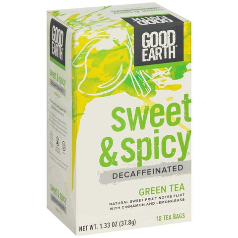 GOOD EARTH - Decafeinated Sweet & Spicy Green Tea