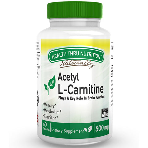 HEALTH THRU NUTRITION - Acetyl L-Carnitine 500mg