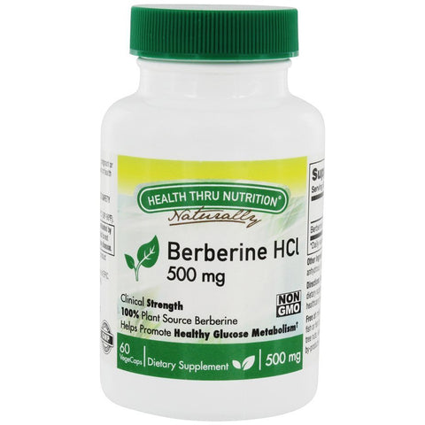HEALTH THRU NUTRITION - Berberine HCl 500mg