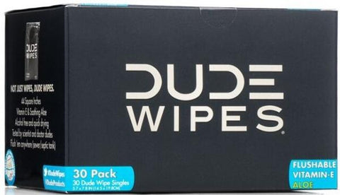 DUDE WIPES - Flushable Wet Wipes Travel Size