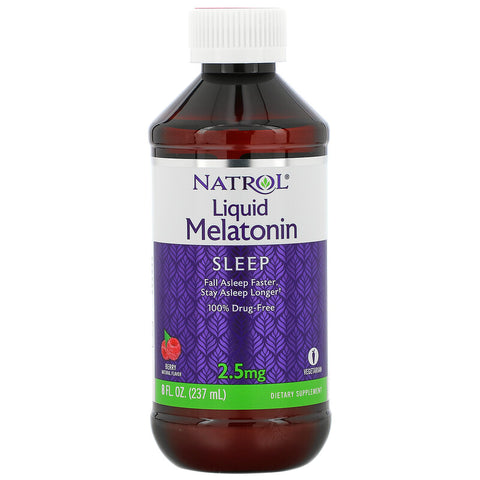 NATROL - Liquid Melatonin 2.5mg Berry - 8 fl. oz. (237 ml)