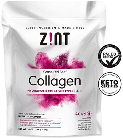 Z!Nt - Grass-Fed Beef Collagen Hydrolyzed Collagen Types I & III